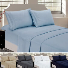New 4-PACK Fitted Sheet + Flat Sheet + Pillowcase Bedding Articles Set All Size