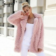 Fashion Winter Ladies Warm Streetwear Faux Fur Coat Jacket Parka Long Outerwear