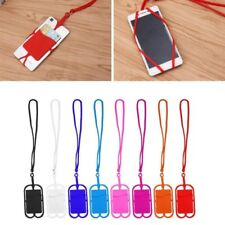 Detachable Silicone Lanyard Cell Phone Case Holder Neck Strap ID Card Slot YG