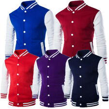 Fashion Mens Baseball Varsity Jacket Sweater Tops Warm Sports Coat College Coat