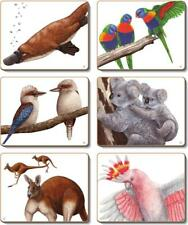 Country Kitchen AUSSIE ANIMALS Cork Backed Placemats or Coasters Set 6 NEW Ci...