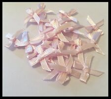 Satin & Lurex Ribbon Bows 25pk, 20mm (Range of colours)