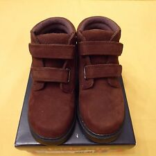 NWB BOYS' STRIDE RITE RIMROCK II H&L NBK BROWN Toddler VELCRO BOOTS SHOES WIDE