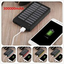 300000mAh Universal Solar Charger Dual USB External Charger Battery Power Bank #