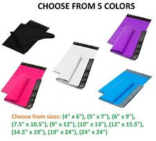 50-1000 Poly Mailers Shipping Envelopes Self Sealing Plastic Mailing Bags Color