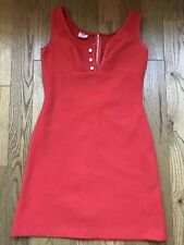Vintage Red 60s Retro Mini Dress SIZE 10 MAD MEN
