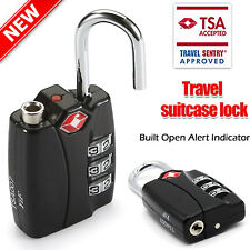 Suitcase Locks TSA-Accepted Nickel Set-Your-Own Combination Luggage Padlocks US