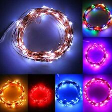 20-200LED Solar / Battery Powered Outdoor Xmas LED Fairy Lights String Party GZ