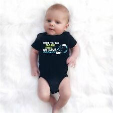 Summer Baby Unisex Short Sleeves Fashion Letters Printing Triangle Romper XP