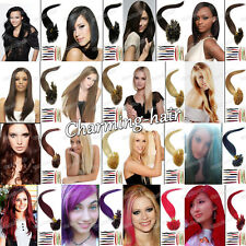 """Pre Bonded Keratin Nail U Tip Remy Indian Human Hair Extensions 16""""/26""""0.5G/S 7A"""