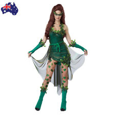 Ladies Sexy Lethal Beauty Poison Ivy Halloween Fancy Dress Costume Green