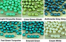 40pcs Pastel Pearl Round Faceted Fire Polished Spacer Czech Glass Beads 6mm