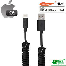 MFI 2A Coiled Charging Data Cable (5ft) for iPhone Retractable Coil Spring Light
