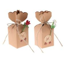 50 Pieces Kraft Paper Candy Chocolate Boxes Baby Shower Wedding Party Gift Favor