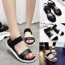 BU_ Summer Women Roman Sandals Open Toe Ankle Strap Anti-skid Platform Shoes Del