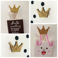 BU_ Nordic Crown Shape Hook Wall Hangers Rack Organizer Kids Room Hanging Decor