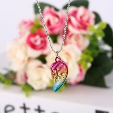 "3PCS Friendship ""Best Friends Forever"" Heart Pendant Necklaces kids Christmas BX"