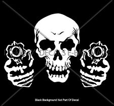 Skull And Guns High Quality Car Truck Unique Custom Graphic Die Cut Vinyl Decal