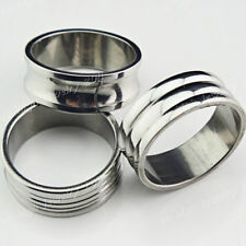 12-36pcs Stainless steel Fashion Women Mens Silver Rings Wholesale Jewelry Lots