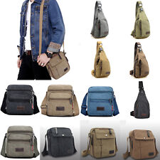 Mens Vintage Canvas Crossbody Outdoor Shoulder Bag Messengers Travel Bag Satchel