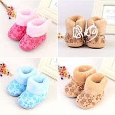 6-12M Infant Child Baby Boys Girls Warm Snow Boots Toddler Winter Fur Crib Shoes