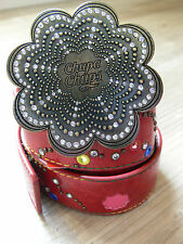 Chupa Chups faux leather red studded belt