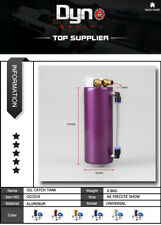350ML Aluminum Racing Oil Catch Tank/Can Round Can Reservoir Turbo Oil Catch can