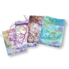100pcs Coralline Organza Jewelry Pouch Wedding Party Favor Candy Gift Bags Lot