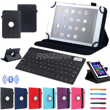 "For ASUS 7"" 10.1"" Tablet Bluetooth Keyboard Universal 360° Rotating Leather Case"