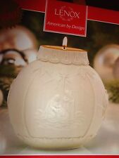 "LENOX ORNAMENTAL GLOW NATIVITY VOTIVE CANDLE HOLDER 4"" NEW IN BOX"