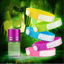 Anti Mosquito Pest Insect Bugs Repellent Wrist Band Ring Bracelet+Oil