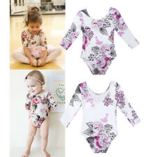 Newborn Baby Girls Floral Outfits Long Sleeves Romper Jumpsuit Bodysuit Sunsuit