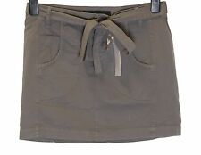 Bnwt Women's French Connection Mini Skirt + Belt Fcuk New Grey