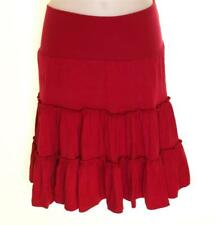 Bnwt Women's French Connection Stretch Skirt Fcuk New Viscose Red