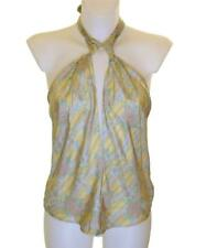 Bnwt Women's French Connection Silk Blouse Halterneck Strappy Top Fcuk