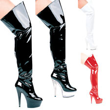 Casino 6'' Heel Pointed Stilletto Thigh High Boots by Ellie Shoes