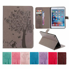 Folio Cat Tree Pattern Leather Wallet Stand Auto Smart Case Cover For Apple iPad