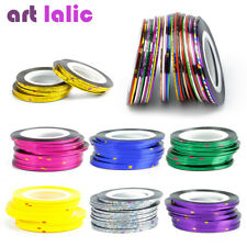 30Pcs Multicolor Rolls Striping Tape Line Nail Art Decoration Sticker Nail