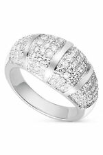 Charles & Colvard Dome Shaped Pave 1.5mm Moissanite Ring, 1.14cttw DEW