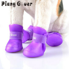Rain Shoes Pet Dog Cute Waterproof Boots Protective Rubber Candy Color Booties