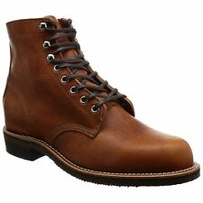 Chippewa 1939 Original Service Tan Mens Leather Lace-up Utility Ankle Boots
