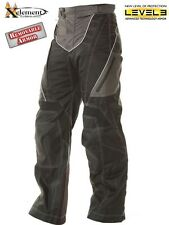 "Xelement B4402 Black TriTex Motorcycle Pants Level-3 Advanced Armor 32"" inseam"
