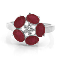 Sterling Silver Ring with Red Ruby Natural Oval Cut Gemstones handcrafted eBay