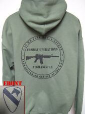 1ST CAVALRY HOODED SWEATSHIRT/ MILITARY/ COMBAT OPERATIONS AFGHANISTAN / NEW