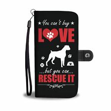 You can't buy love, you can rescue it dog lover's phone wallet, case