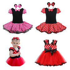 Toddler Baby Girl Minnie Mouse Fancy Tutu Outfit+Headband Party Costume Dress Up