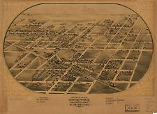 Poster Print Antique American Cities Towns States Map Chenoa Mclean Illinois