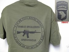 101ST AIRBORNE RANGER T-SHIRT/ AFGHANISTAN COMBAT OPS T-SHIRT/ MILITARY/ NEW