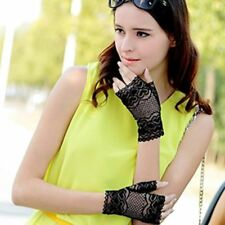 2018 Nappaglo Short Fingerless lace UV Protection Sun Block Bridal Gloves 50+