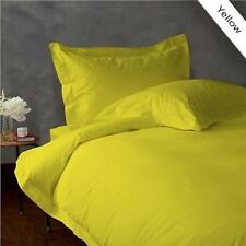 800TC EGYPTIAN COTTON BEDDING COLL. SHEET SET+DUVET COVER+BED SKIRT YELLOW